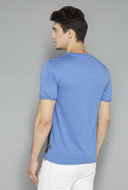 Nuon Blue Printed T Shirt