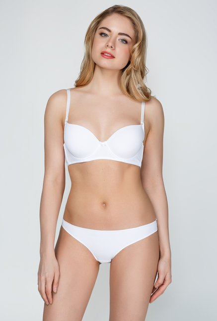 Infinity Lingerie Lira White Solid Brief
