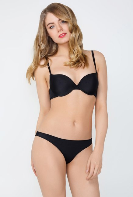Infinity Lingerie Lira Black Solid Brief