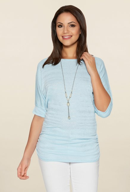 Quiz Blue Shimmery Top
