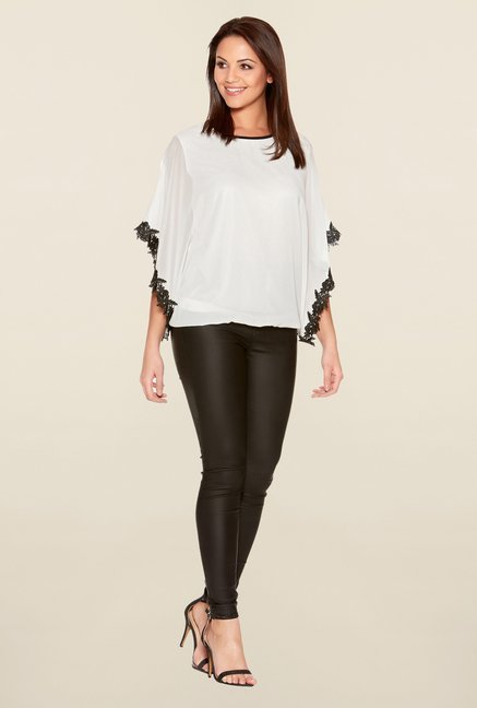 Quiz White Solid Top