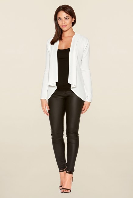Quiz Cream Solid Waterfall Jacket