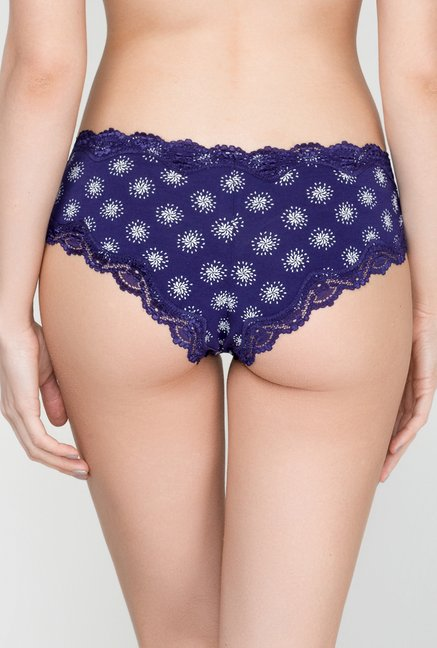Infinity Lingerie Meora Navy Printed Boy Shorts