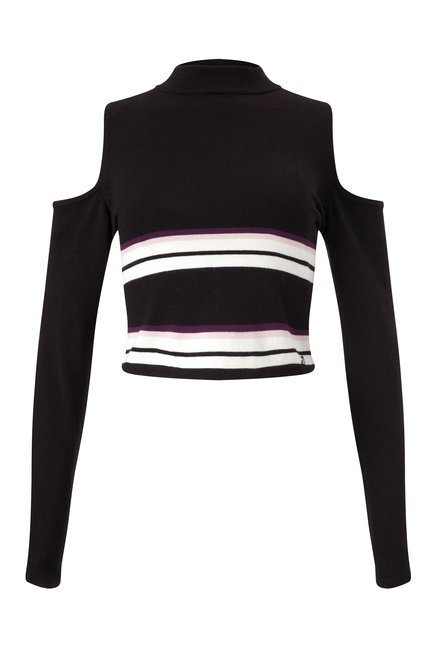 Lipsy Black Striped Top