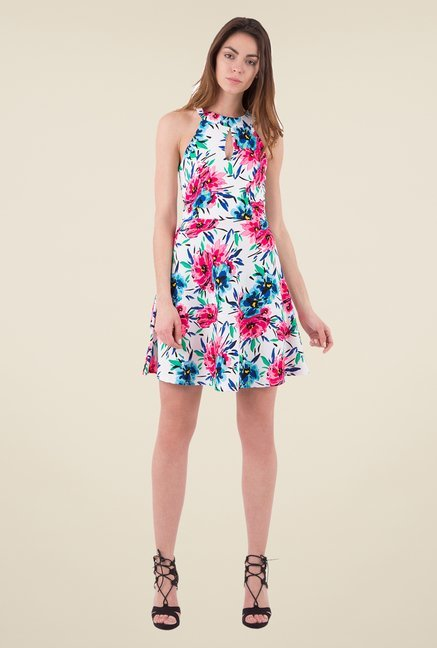 MIM Multicolor Floral Print Skater dress