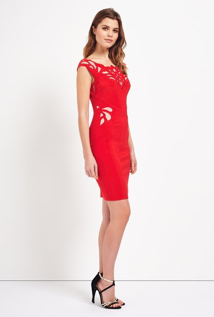 Lipsy Red Solid Dress