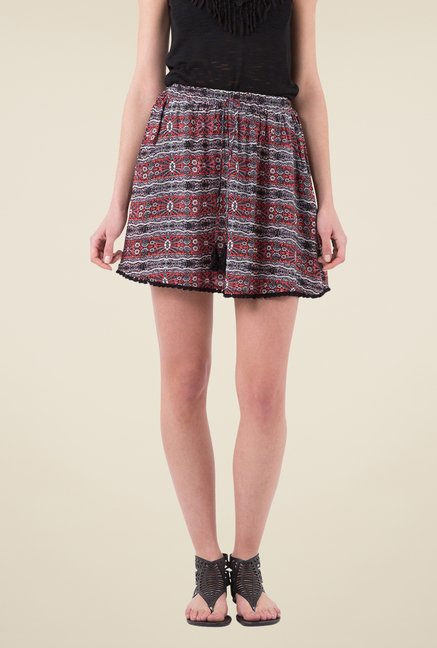 MIM Multicolor Printed A-line Skirt