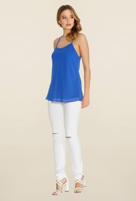 Quiz Royal Blue Strap Swing Top