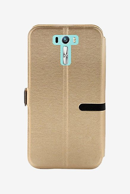 Noise Flip Cover for Asus Zenfone Selfie ZD551KL (Gold)