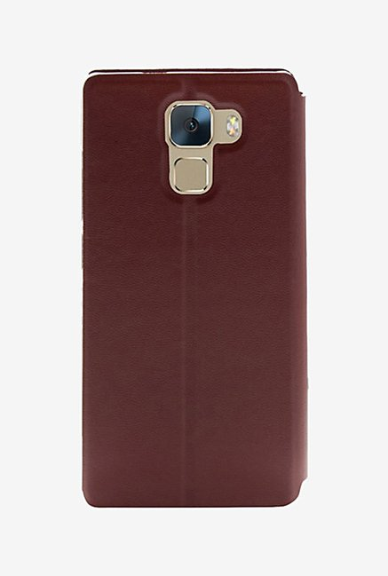 Noise Flip Cover for Huawei Honor 7 (Brown)