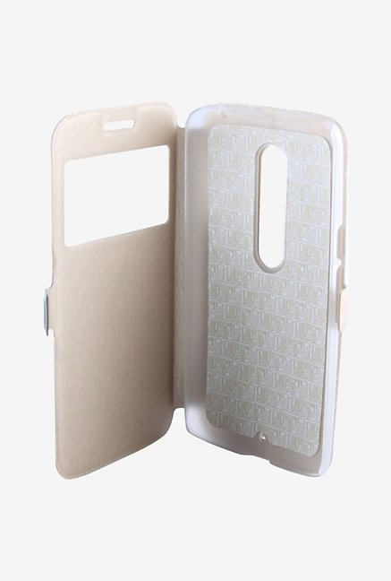 Noise Flip Cover for Motorola Moto X Style (Gold)