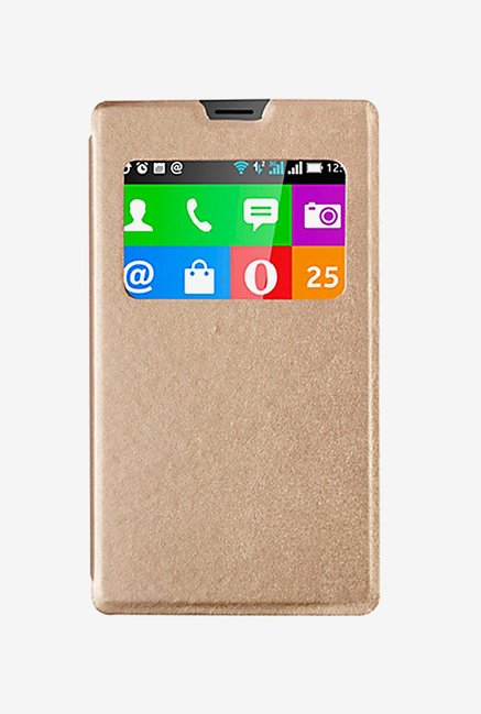 Noise Flip Cover for Nokia XL (Gold)