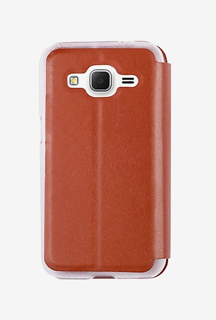 Noise Flip Cover for Samsung Core Prime (Brown)