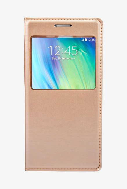 Noise Flip Cover for Samsung Galaxy A5 (Gold)