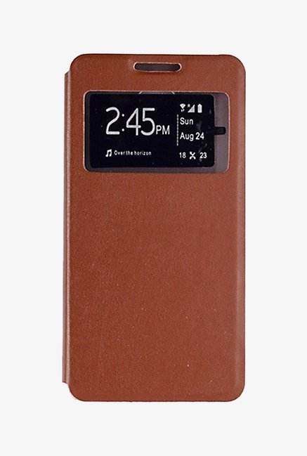 Noise Flip Cover for Samsung Galaxy A7 (Brown)