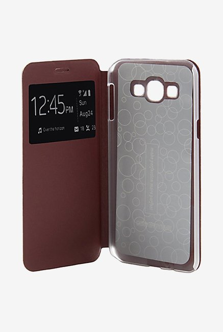 Noise Flip Cover for Samsung Galaxy A8 (Brown)