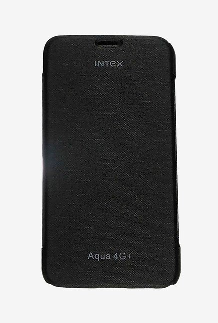 Noise Flip Cover for Intex Aqua 4G Plus (Black)