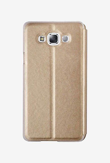 Noise Flip Cover for Samsung Galaxy E5 (Gold)