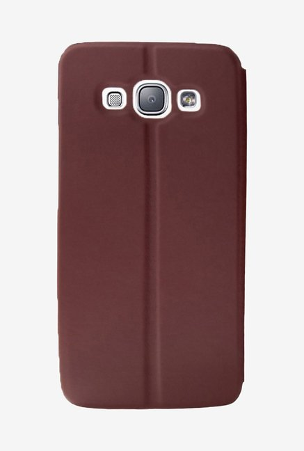 Noise Flip Cover for Samsung Galaxy E5 (Brown)