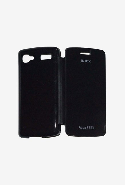 Noise Flip Cover for Intex Feel (Black)
