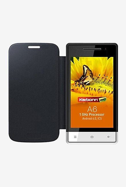 Noise Flip Cover for Karbonn A6 Turbo (Black)
