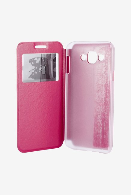 Noise Flip Cover for Samsung Galaxy E7 (Pink)