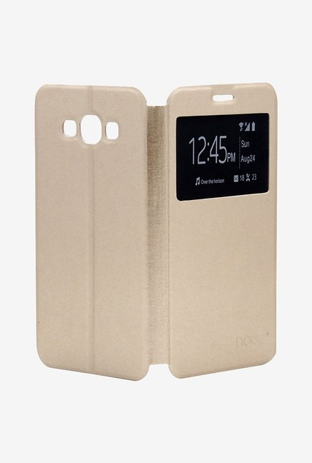 Noise Flip Cover for Samsung Galaxy E7 (Gold)