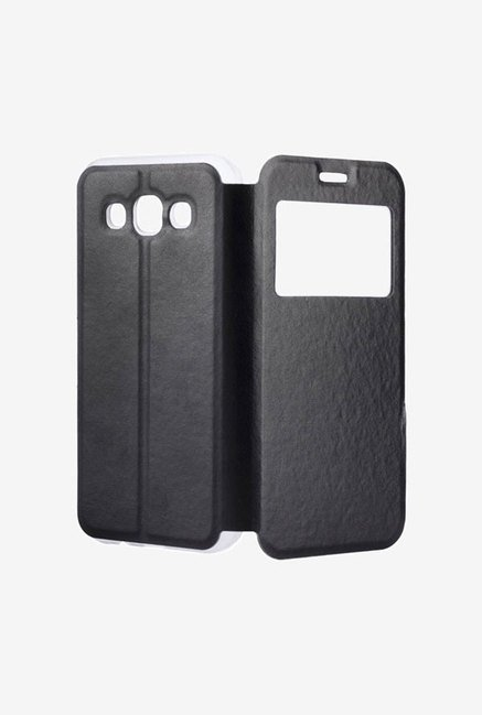 Noise Flip Cover for Samsung Galaxy E5 (Black)