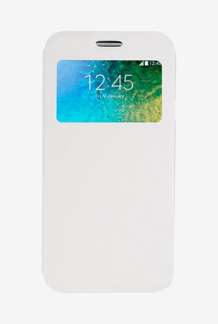 Noise Flip Cover for Samsung Galaxy E5 (White)