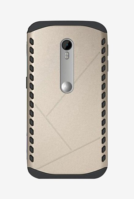 Noise Shield Back Case for Moto G (3rd Gen) (Gold)
