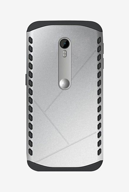 Noise Shield Back Case for Moto G (3rd Gen) (Silver)