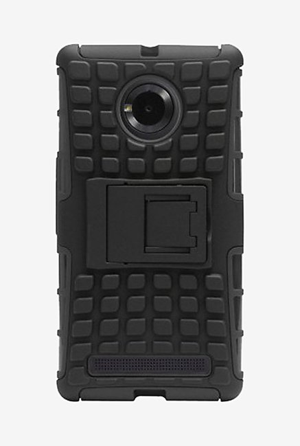 Noise Hybrid Back Case for Micromax Yu Yuphoria (Black)
