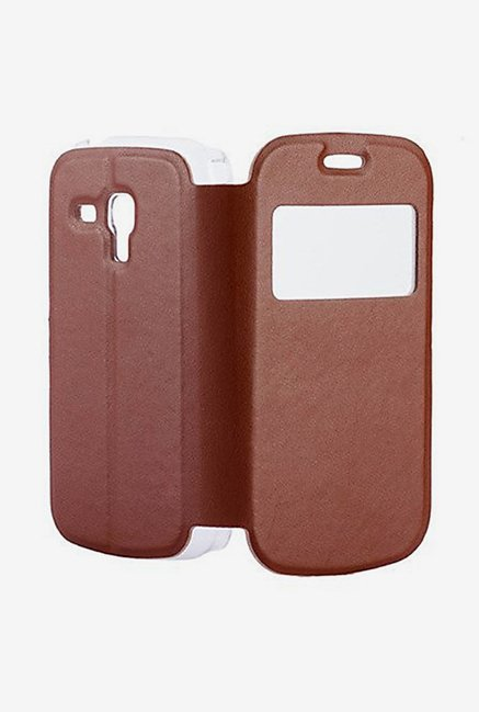 Noise Flip Cover for Samsung Galaxy S Duos S7562 (Brown)