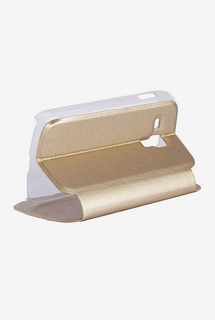 Noise Flip Cover for Samsung Galaxy S Duos S7562 (Gold)
