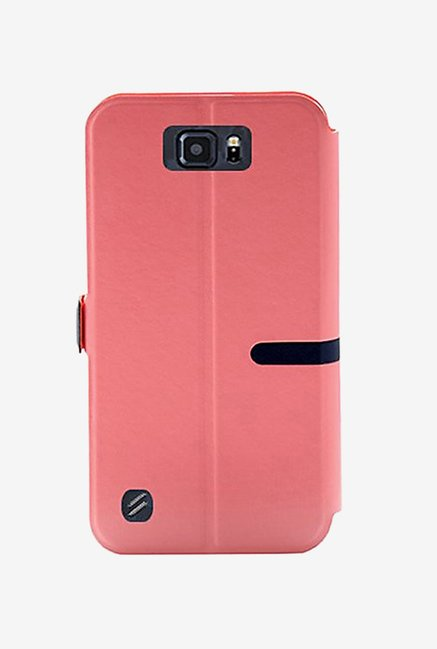 Noise Flip Cover for Samsung Galaxy S6 Active (Pink)