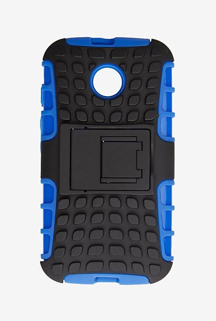 Noise Hybrid Back Case for Motorola E (Blue) (Blue)