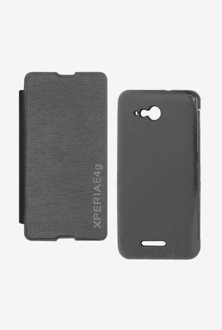 Noise Flip Cover for Sony Xperia E4g (Black)