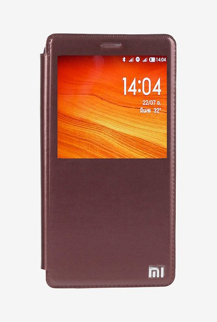 Noise Flip Cover for Xiaomi Redmi Note Prime (Brown)