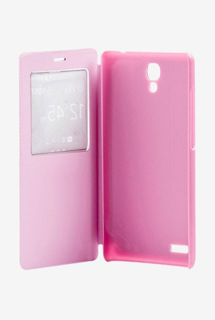 Noise Flip Cover for Xiaomi Redmi Note Prime (Pink)