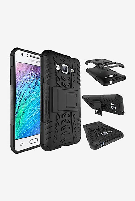Noise Hybrid Back Case for Samsung Galaxy J3 (Black)