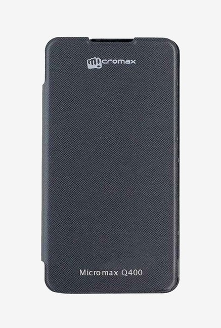 Noise Flip Cover for Micromax Canvas Blaze 4G Q400 (Black)