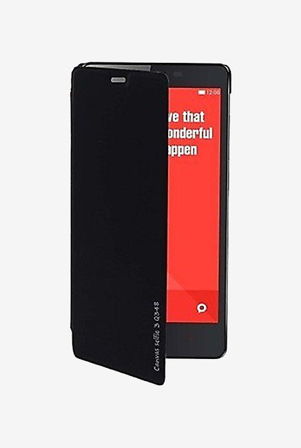 Noise Flip Cover for Micromax Canvas Selfie 3 Q348 (Black)