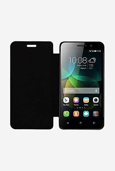 Noise Flip Cover for Micromax Yu Yuphoria (Black)