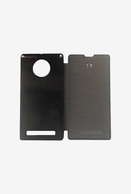 Noise Flip Cover for Micromax Yu Yuphoria AQ5010 (Black)