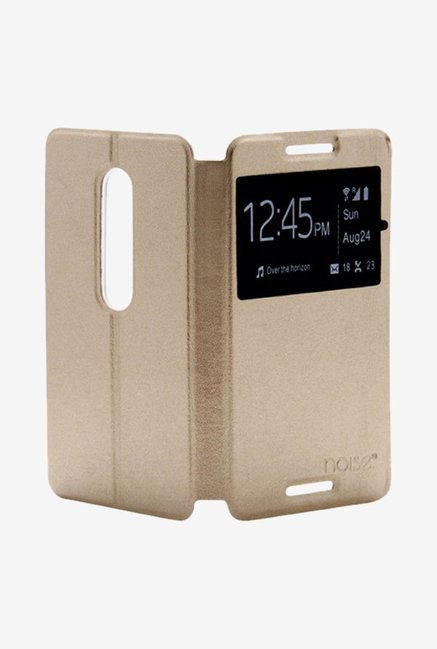 Noise Flip Cover for Motorola Moto G (3rd Gen) (Gold)