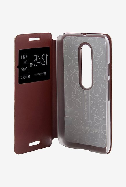Noise Flip Cover for Motorola Moto G (3rd Gen) (Brown)