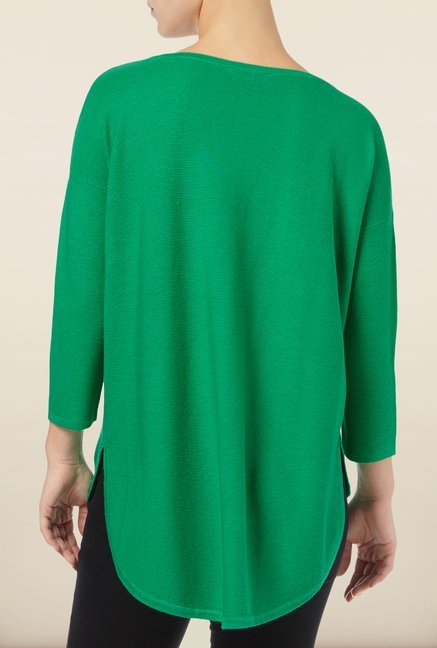 Phase Eight Green Solid Sweater