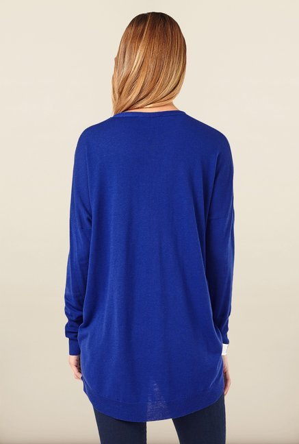 Phase Eight Blue High-Low Sweater