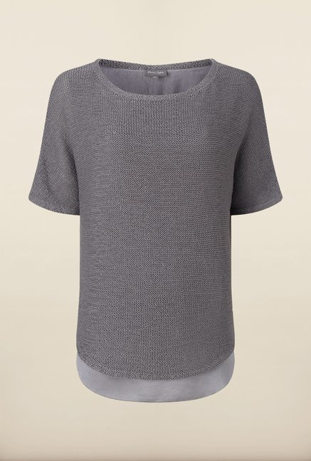 Phase Eight Grey Solid Sweater