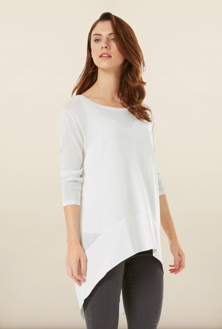 Phase Eight White High-Low Sweater